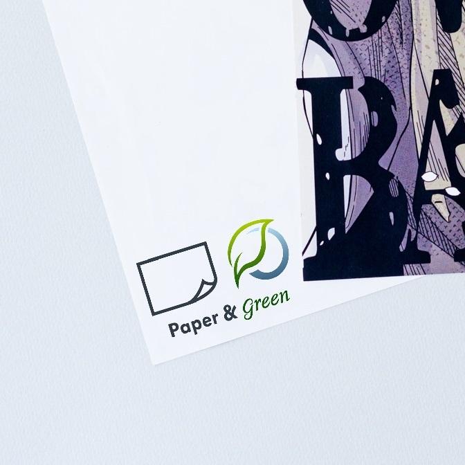 エコオーバルバッグ Paper & Greenロゴ 450x450