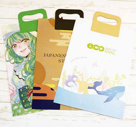 エコオーバルバッグ オリジナル印刷イメージ 450x420