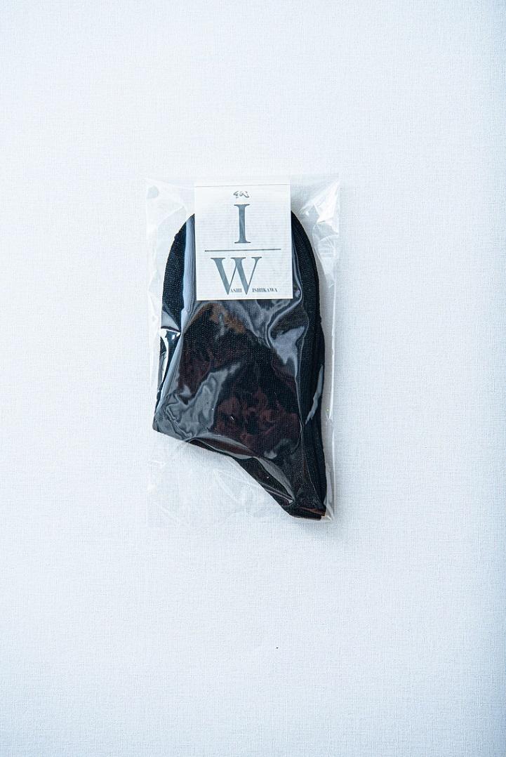 和紙くつ下 ショート 黒 包装