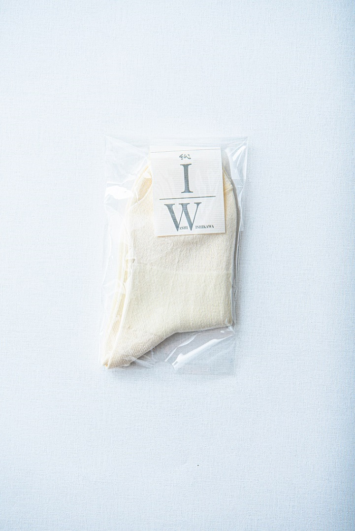 和紙くつ下 ショート 白 包装